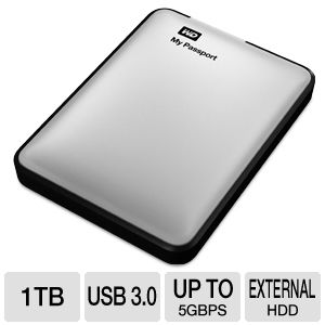 WD My Passport 1TB Silver Hard Drive