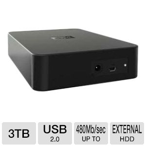 WD 3TB Elements External USB 2.0 Hard Drive