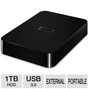 WD Elements SE 1TB USB 3.0 Portable Hard Drive