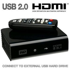 WD TV HD 1080P Media Player - Use w/ External HDD