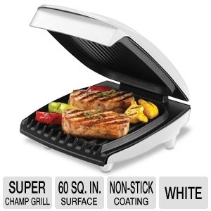 George Foreman Super Champ White 4 Burger Grill