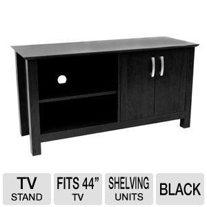 Walker Edison TD44COSBL Wood TV Console w/ Shelf