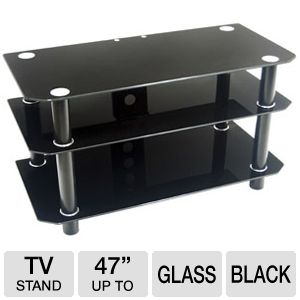 Walker Edison TD42Y79B Glass TV Stand