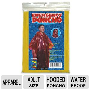 World Import Co. Water Proof Emergency Poncho 
