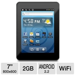 "Velocity Micro Cruz T301 7"" Android 2.2 Tablet"