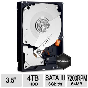 WD Black 4TB Desktop Hard Drive