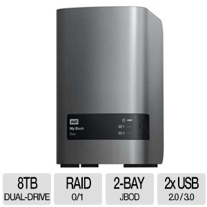 WD My Book 8 TB Duo Premium RAID Storage