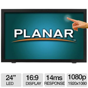 "Planar PCT2485 24"" LED 10pt Multi-touch Monitor"
