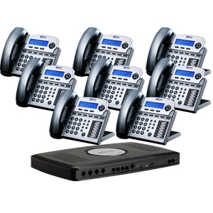 Xblue Networks X16 Phone System (8-Pack Bun REFURB