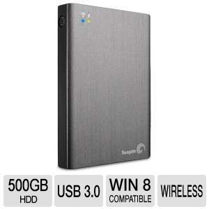 Seagate� Wireless Plus 500GB Mobile Device Storage