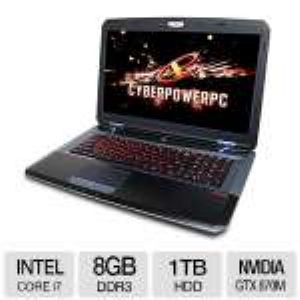"CyberPowerPC 17.3"" Gaming Notebook - HFX7-800"