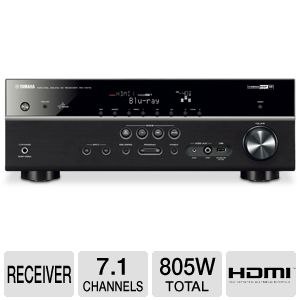 Yamaha RX-V573BL 7.1 Channel Digital A/V Re Bundle