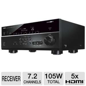 Yamaha RXV673BL 7.2 Channel, 6x HDMI A/V Receiver