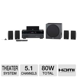 Yamaha YHT-597BL 5.1 Channel Home Theater System 