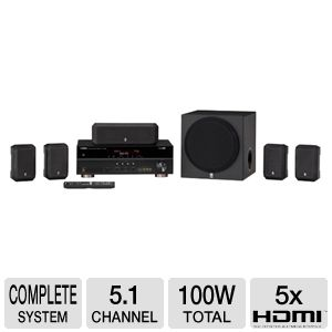 Yamaha YHT-395BL Home Theater System REFURB