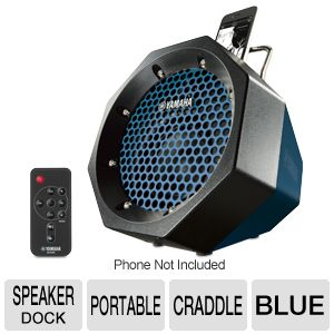 Yamaha Portable Blue Speaker Dock