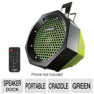 Yamaha Portable Green Speaker Dock