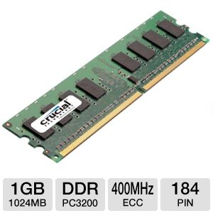 Crucial 1024MB PC3200 DDR