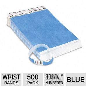 LANYARDS,WRSTBND,500PK,BE