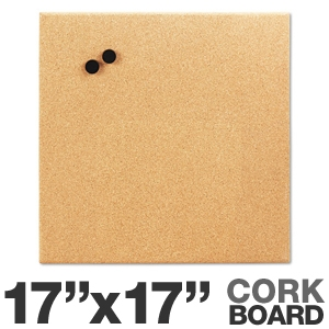 Board Dudes 19163UA4 Magnetic Canvas Cork Board