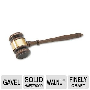 "GAVEL,WALNUT,10.5""LONG"