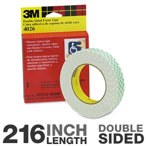3M 4026 Scotch Foam Mounting Double Sided Tape