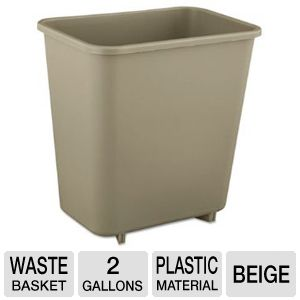 WASTEBASKET,8QT,BG