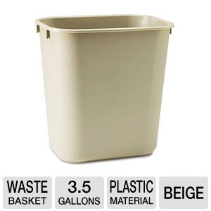 Rubbermaid 295500BG Rectangular Wastebasket