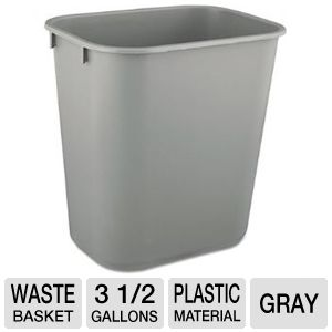 WASTEBASKET,RECTNG SM GY
