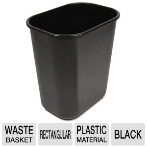 WASTEBASKET,28 QT,BK
