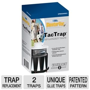 Blue Rhino 2 SkeeterVac Tac Trap Replacement Traps