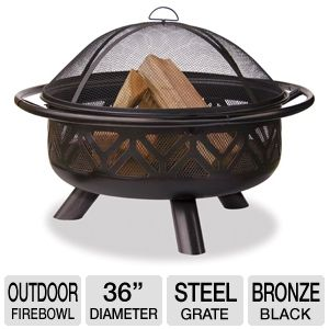 "Blue Rhino 36"" Oil Rubbed Bronze Outdoor Firebowl"