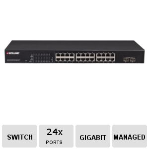 INTELLINET 24 Port PoE Managed Switch - 560559