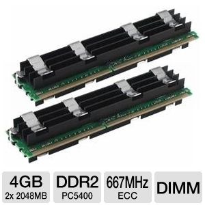 Crucial 4096MB PC5400 DDR2 667MHz ECC FB-DIMM