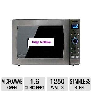 1250W, 1.6 cu ft. Sensor, Stainless Pop-