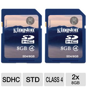 Kingston - flash memory card - 8 GB - SDHC