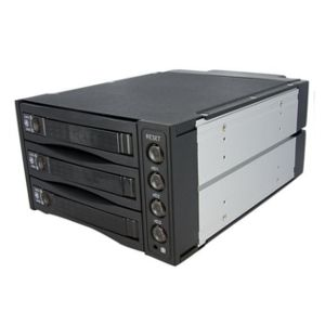 StarTech.com 3 Drive 2.5/3.5 Removable Mobile Rack
