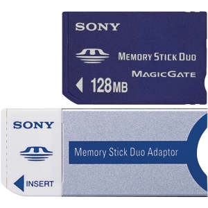 128MB DUO MEMORY STICK W/MEDIA