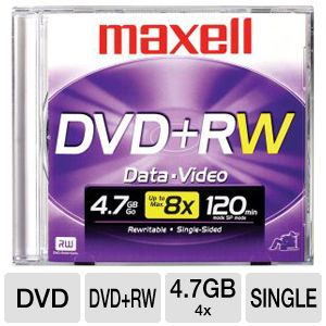 DVD+RW 4.7GB 4X (SINGLE)