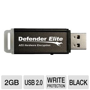 Kanguru 2GB Defender Elite Encrypted Flash Drive