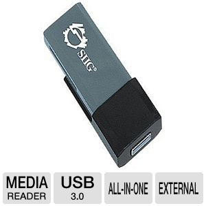 SIIG USB 3.0 SD Card Reader - card reader