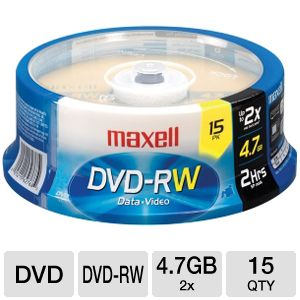 MAXELL DVD-RW 4.7GB