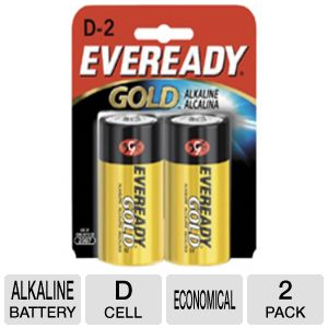 EVEREADY D2 2PK ALKALINE