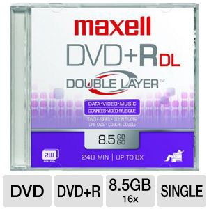 SGL MAXELL DVD+R 8XDBLLAYR8.5GB
