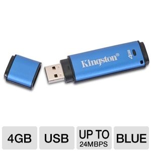 Kingston DTVP/4GB DataTraveler 4GB Flash Drive