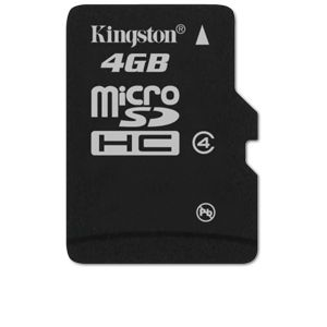 Kingston - flash memory card - 4 GB - mic