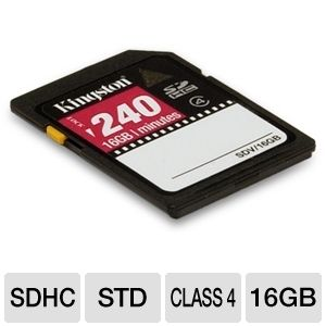 Kingston SDV/16GB 16GB SDHC Card