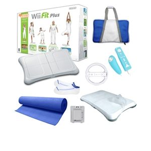 Nintendo Wii Fit Plus Blue Super Bundle