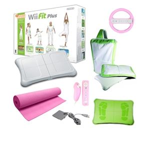 Nintendo Wii Fit Plus Pink Holiday Bundle