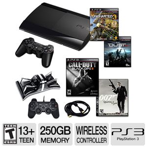 Playstation 3 Slim 250GB Memory 4 Games Bundle.